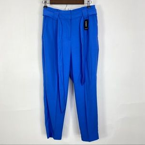 Express blue high waisted ankle pants size 4s